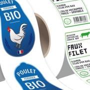 étiquettes produit contact agroalimentaire