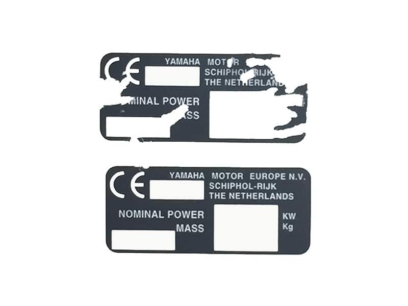 Etiquette PVC ultra destructible