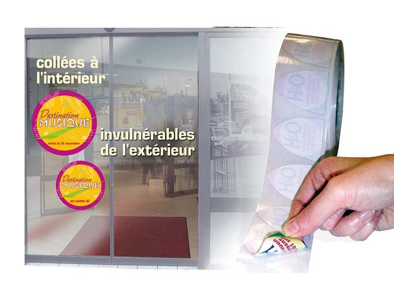 Etiquettes vitrophanies