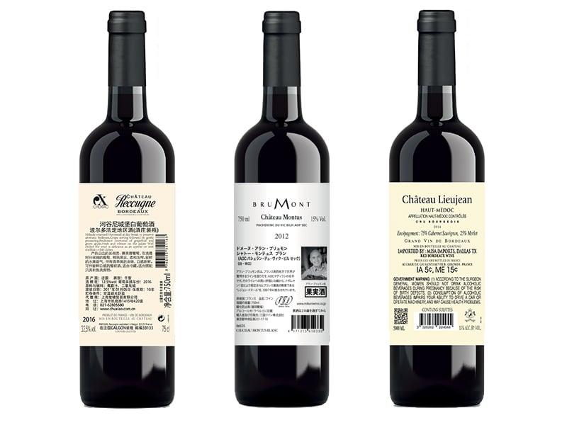 Impression Contre étiquettes Bouteilles De Vins Spiritueux