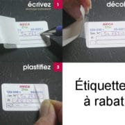 Étiquettes à rabat